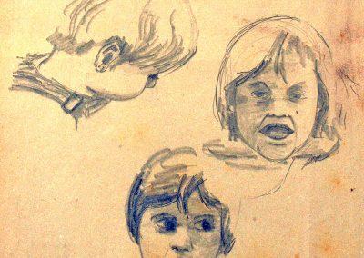 1974-estudis nens-25x35,5cm-pencil