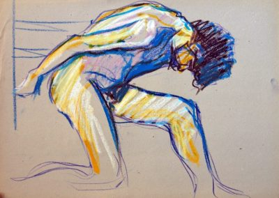 1977 sketch#068-50x36cm-wax