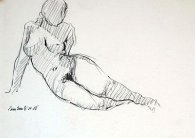 1978 estudi cos #030-32x25cm- charcoal