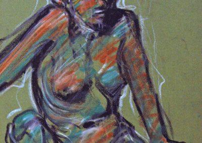1979 Sketch woman-25x35,5cm-wax
