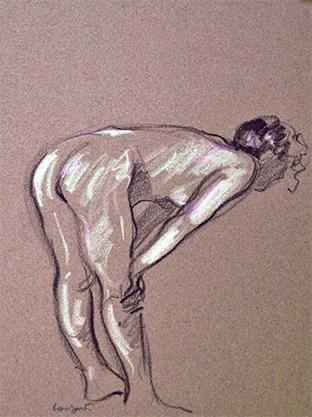 1979 sketch#068-25x32cm-wax