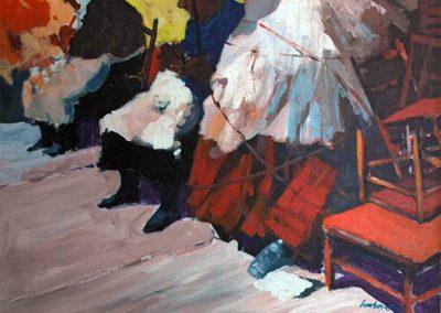 1980 Encants paraigues negre-60x73 cm - acrylic canvas
