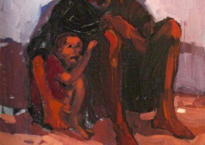 1982 Padre mendigo-33x41 cm - acrylic canvas board