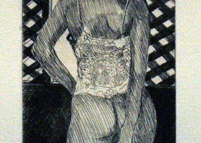 1984 Chica celosia ventana-10x13,5cm-etching