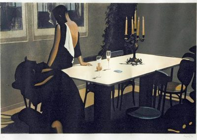 1987 Midnight-85x57cm-stone lithograph hand pulled-12 colors
