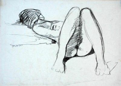 1987 Nudes#02-32x23cm-lapiz papel