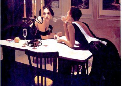 1987 Sunday eleven o'clock p.m.-51x64 - acrylic canvas