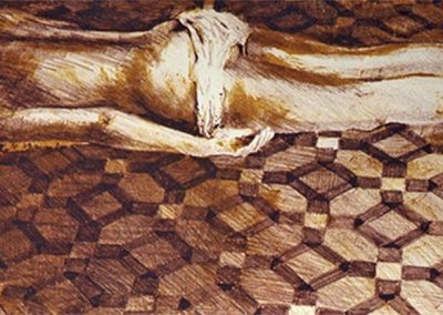 1988 Nude mosaic-47,5x20cm-stone lithograph- 2colors