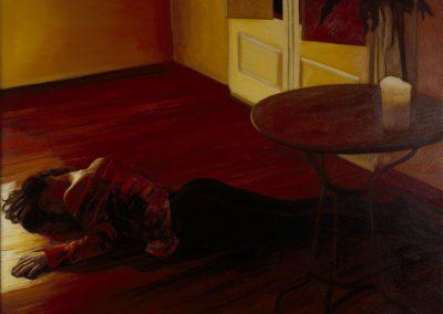 1993 Pequeña mesa de marmol -70x57 cm - acrylic on wood