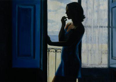 1997 Blue Montgat-65x33 cm - acrylic on wood