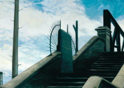 1997 Escaleras y descansos 33x65 cm - acrylic panel