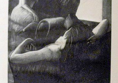 2000 girls speaking-29x39cm-etching