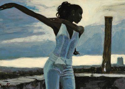 2005 Habana dancer 14x22 cm - acrily on panel