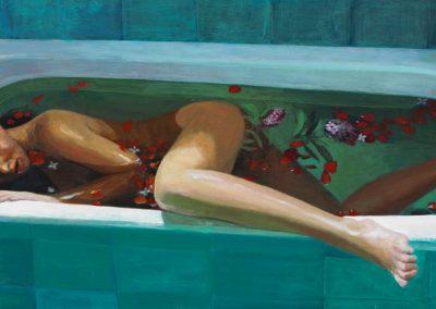 2007 Agua de rosas-81x40 cm - acrylic on panel wood