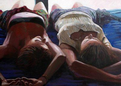 2007 Summer Siesta #10-81x40 cm - acrylic on panel