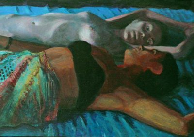 2007 Summer siesta#14- 40x19,5 cm - acrylic on panel