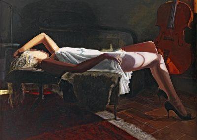 2009 Helke's cello-116x89 cm - acrylic on canvas