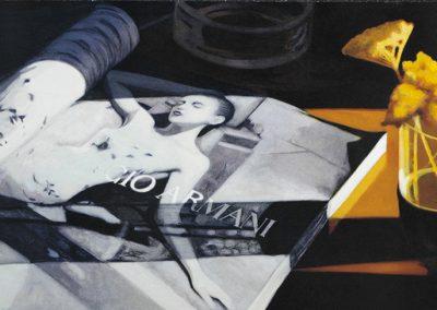 El Alma tiene color tostado- 47 x 93 cm-stone lithograph