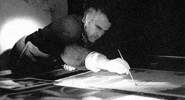In my atelier, Barcelona 1995. Photo by José Luís Pelegrín